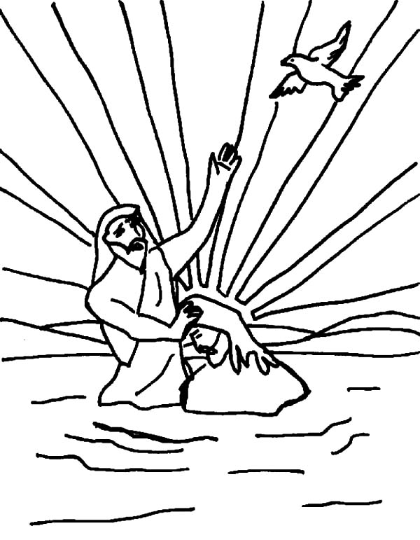 jesus getting baptized coloring page jesus is baptized bible coloring pages bible coloring coloring jesus getting baptized page