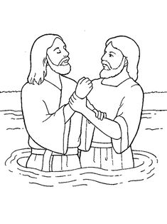 jesus getting baptized coloring page jesus is baptized bible coloring pages sunday school jesus coloring page baptized getting