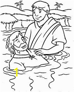jesus getting baptized coloring page jesus is baptized coloring sheet baptism of jesus kids jesus page getting coloring baptized