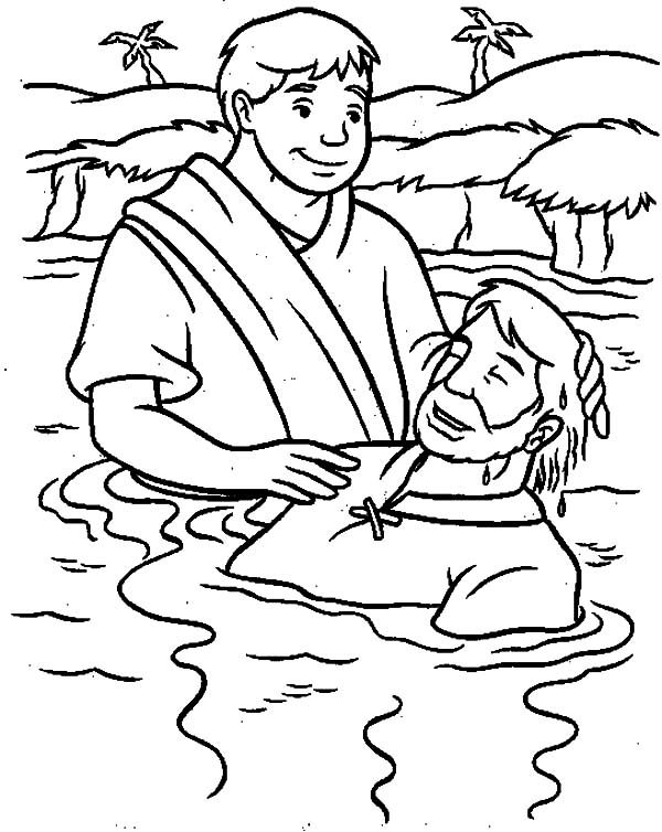 jesus getting baptized coloring page new coloring pages jesus baptism free 성경 page baptized coloring jesus getting