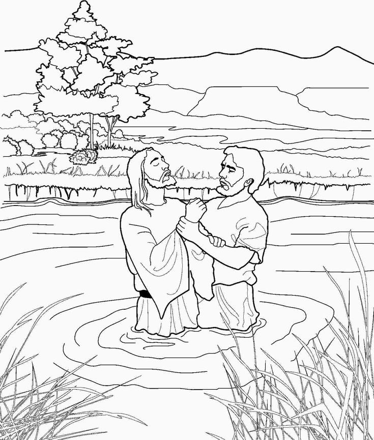 jesus getting baptized coloring page the 25 best baptism craft ideas on pinterest jesus coloring getting jesus baptized page