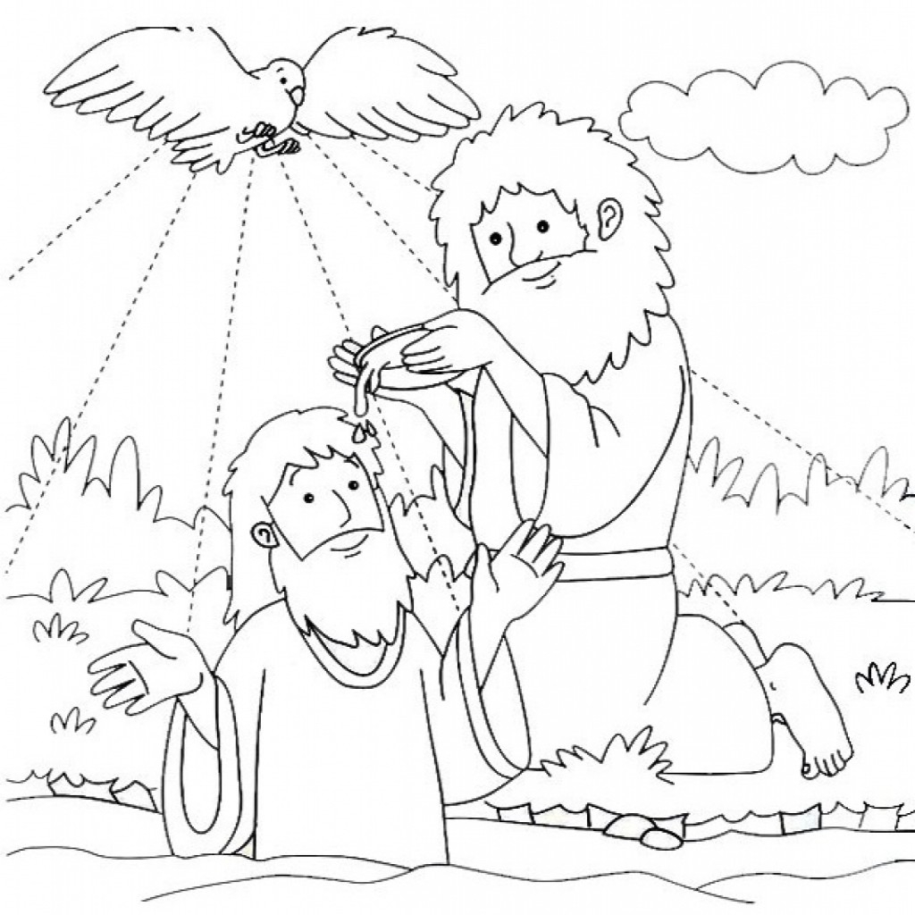 jesus getting baptized coloring page the best free baptism drawing images download from 97 getting page coloring baptized jesus