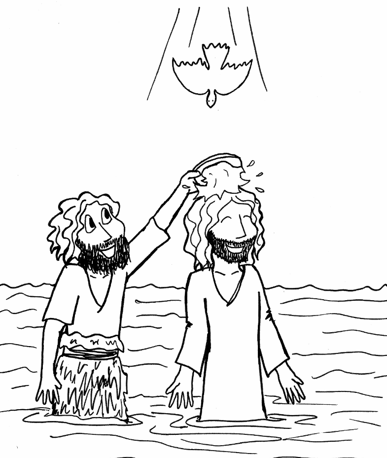 jesus getting baptized coloring page the best free baptized coloring page images download from getting jesus page coloring baptized
