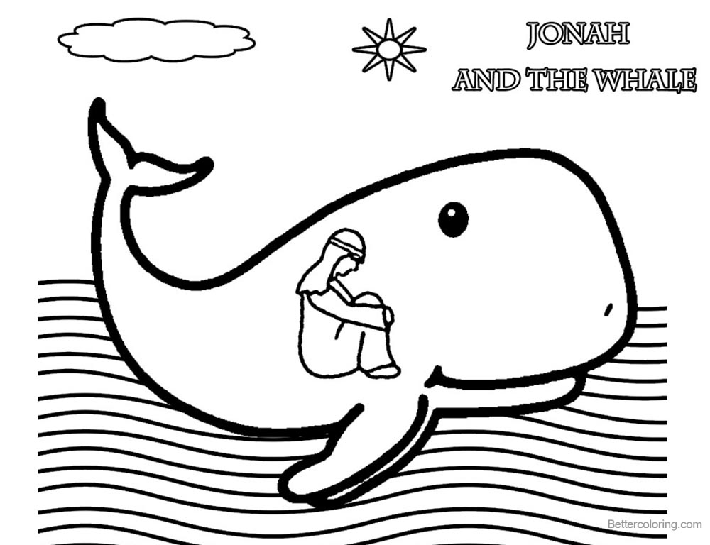 jonah and the whale colouring jonah and the whale coloring page coloring pages for kids jonah and the colouring whale