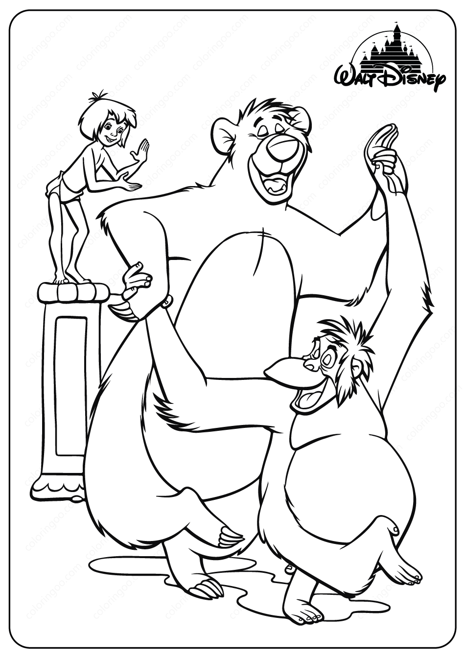 jungle book coloring pages the jungle book coloring pages disneyclipscom jungle book coloring pages