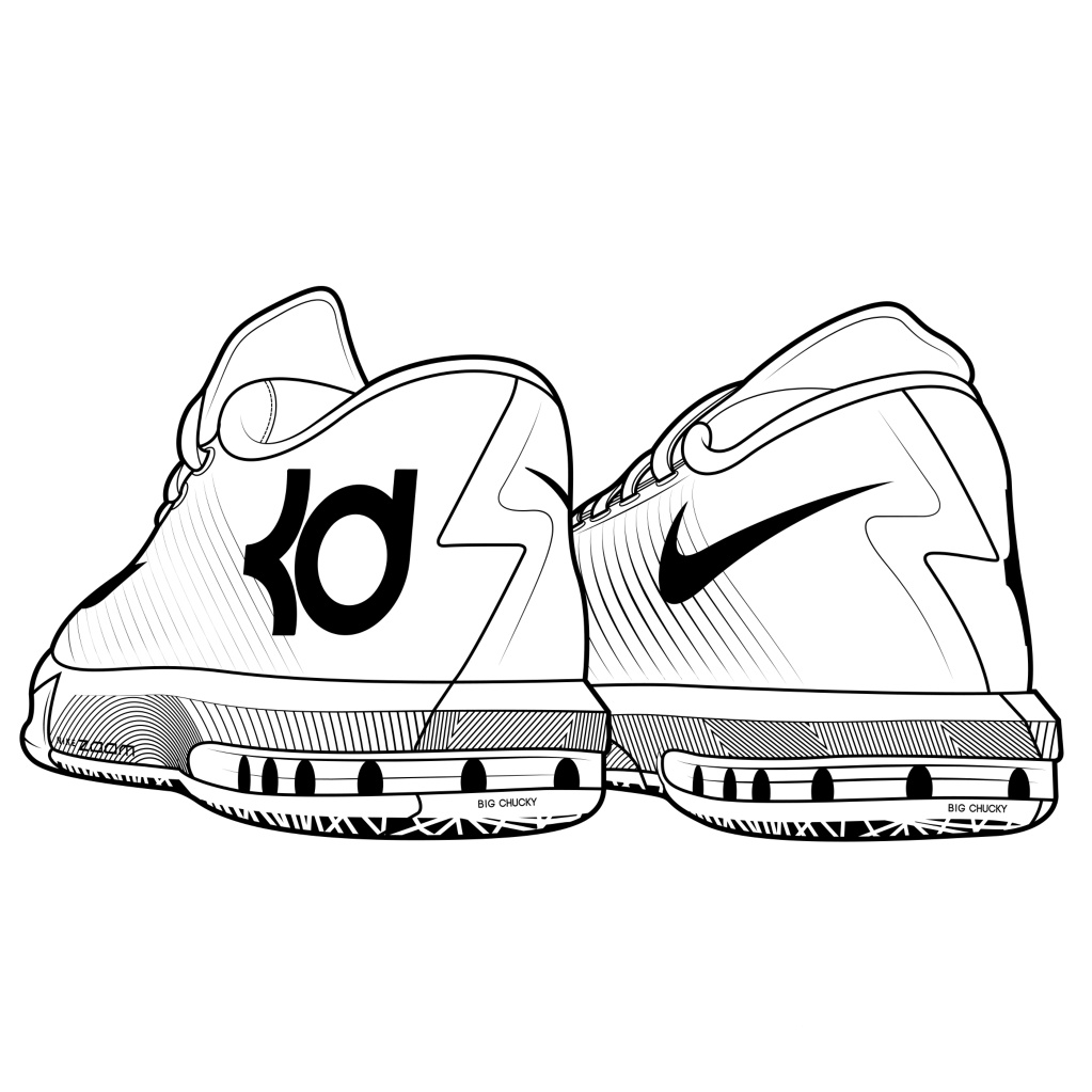 kd coloring pages kd shoes coloring pages 2jpg coloring home kd pages coloring
