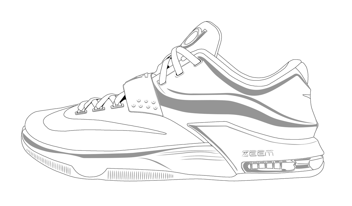 kd coloring pages kd shoes drawings and coloring pages kd pages coloring