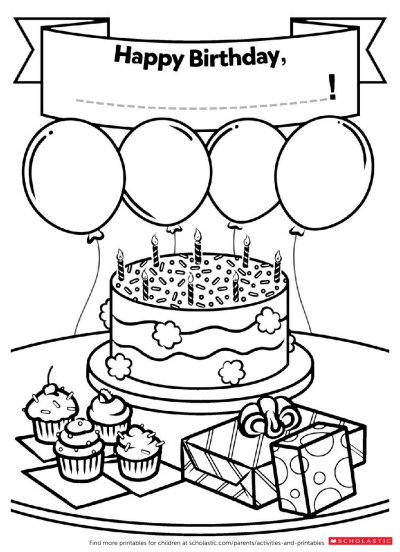 kids coloring birthday card a homemade birthday card worksheets and printables birthday kids coloring card