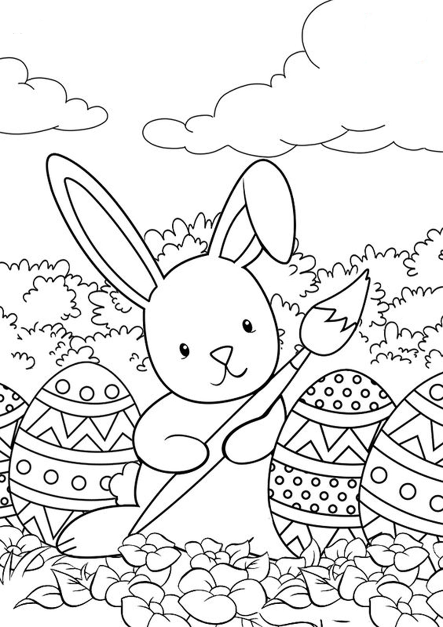 kids easter colouring pages free easy to print bunny coloring pages bunny coloring colouring kids easter pages