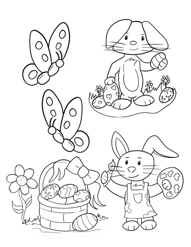 kids easter colouring pages free printable easter coloring pages free fun for kids colouring easter pages kids
