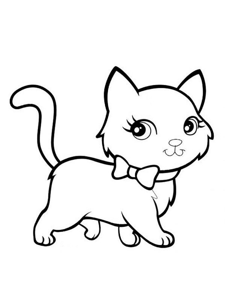 kitten coloring coloring pages cute cats at getcoloringscom free kitten coloring