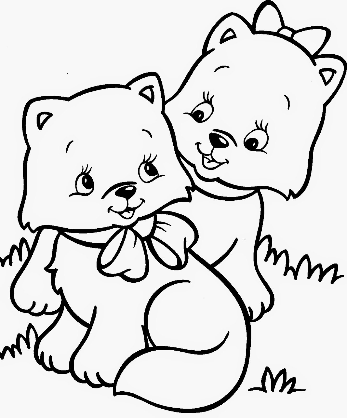 kitten coloring cute cat animal coloring pages for kids to print color kitten coloring