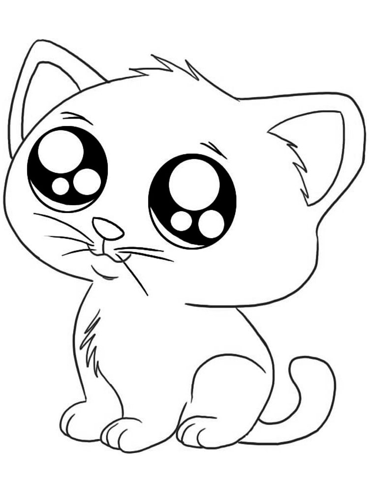 kitten coloring cute kitten cats adult coloring pages coloring kitten
