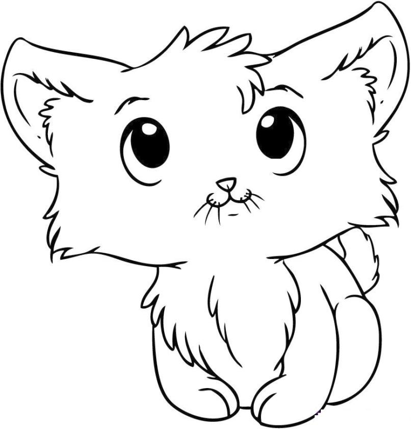 kitten coloring free printable kitten coloring pages for kids best coloring kitten