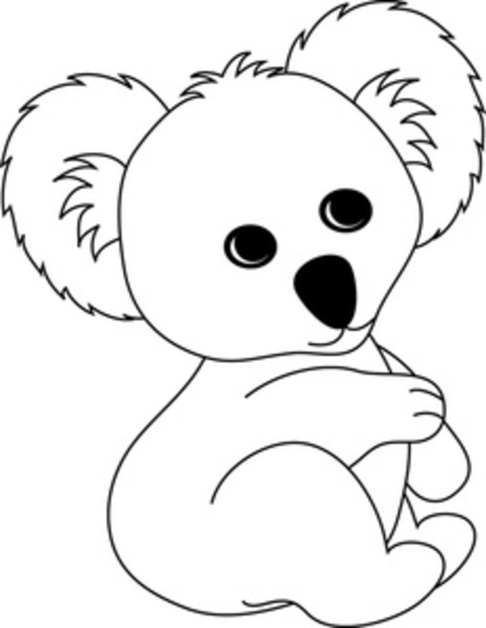 koala pictures to colour in free printable koala coloring pages for kids coloring home koala in to colour pictures