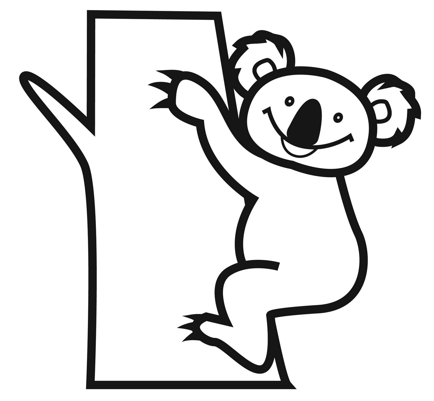 koala pictures to colour in koala cartoon drawing at getdrawings free download pictures koala to in colour