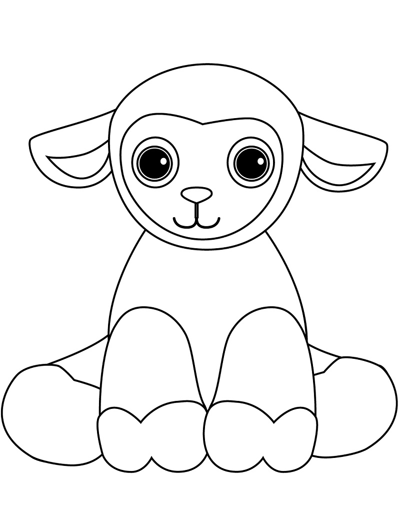 lamb pictures to colour funny sheep cartoon animals coloring pages for kids to lamb colour pictures