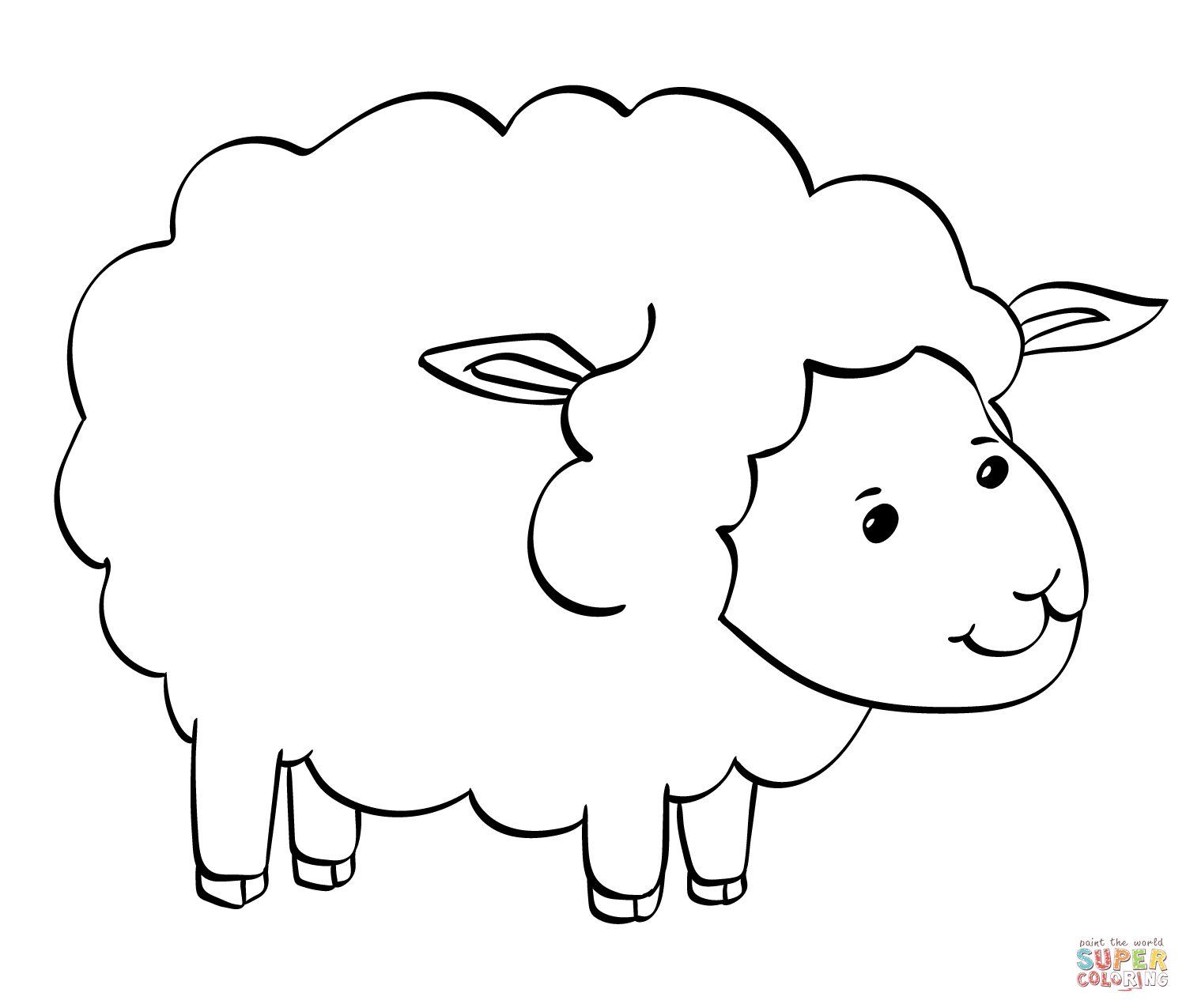 lamb pictures to colour lamb cartoon drawing at getdrawings free download to colour lamb pictures