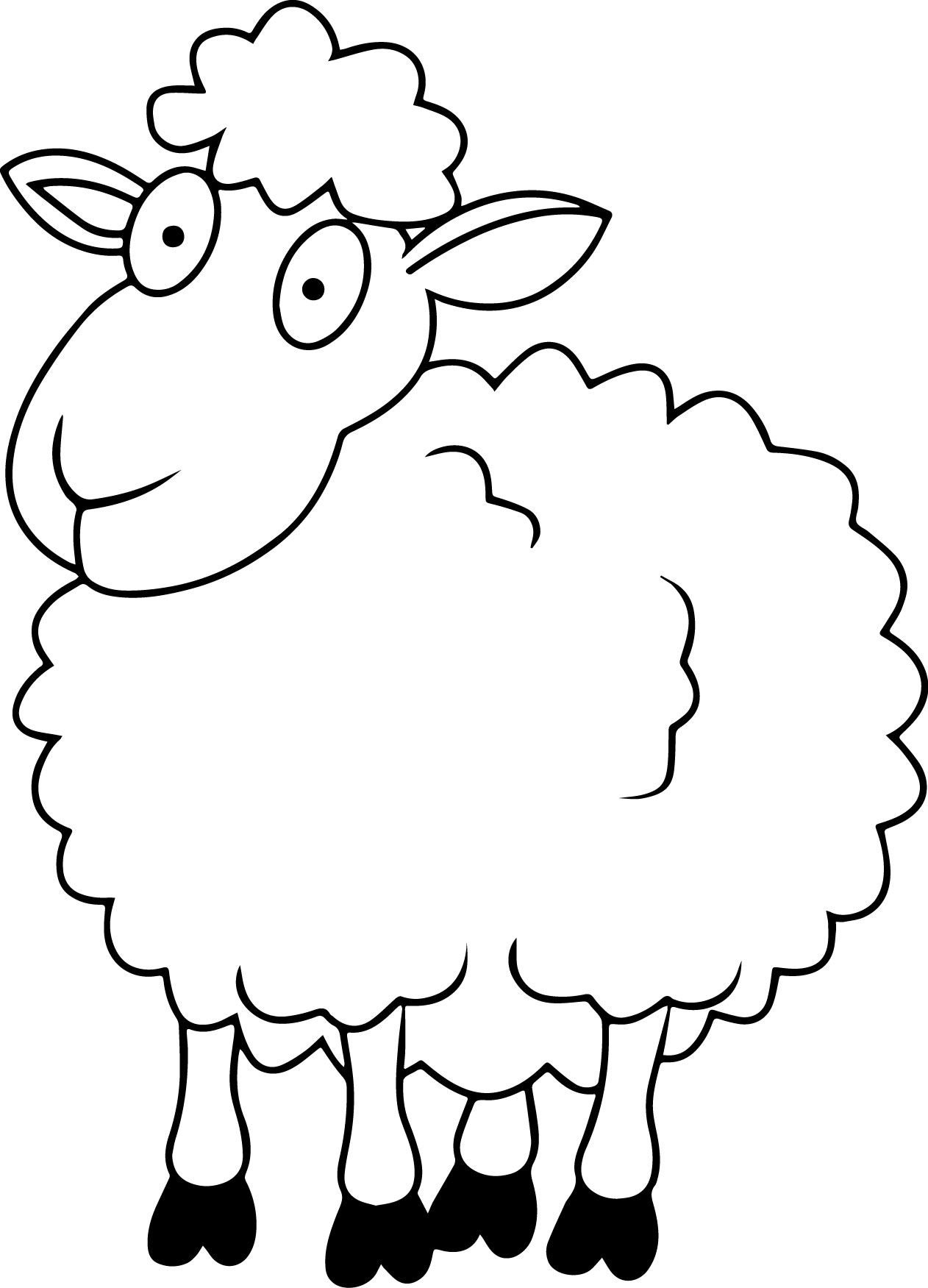 lamb pictures to colour sheep outline coloring page coloring home to pictures colour lamb