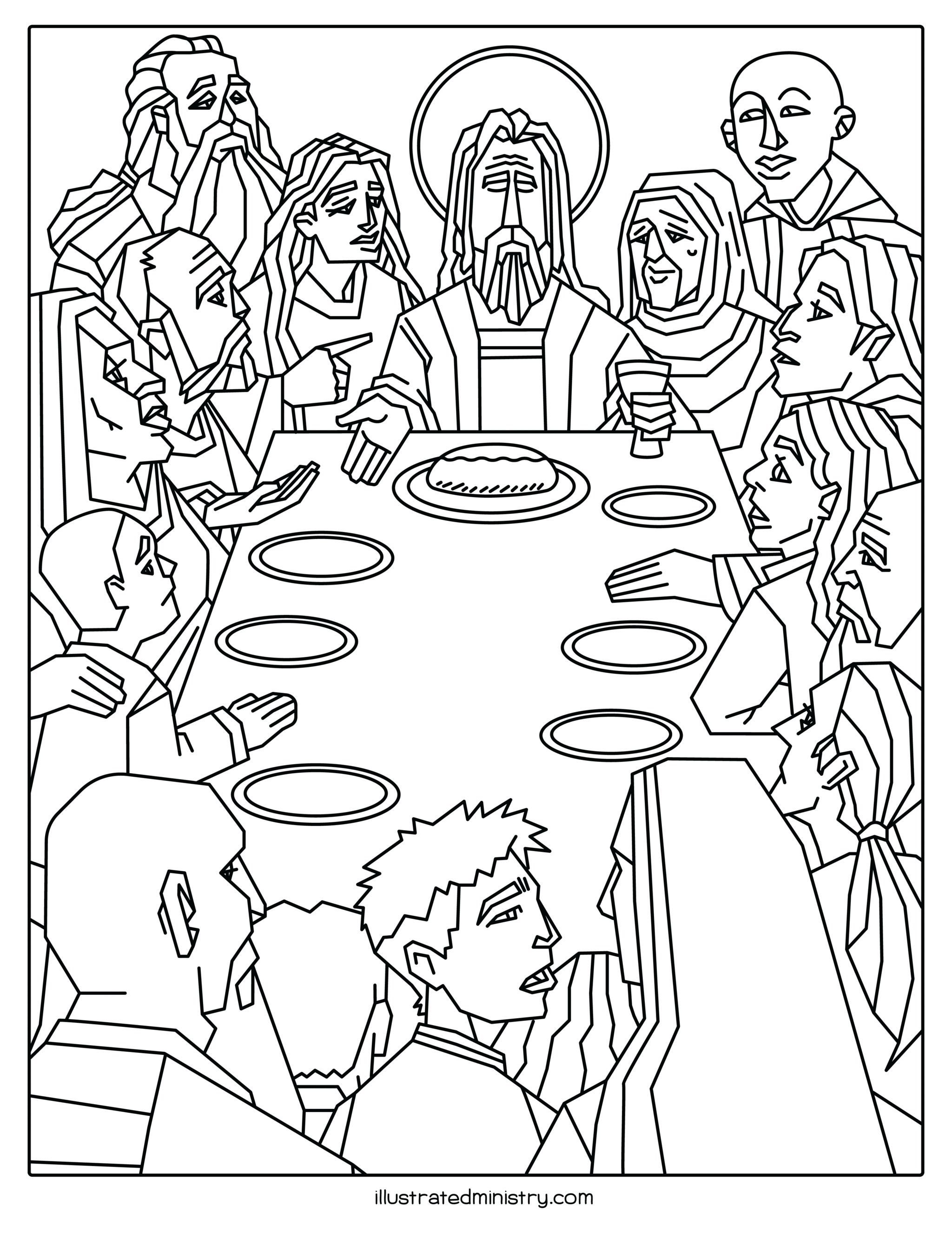 last supper coloring page illustrated worship childrens bundle world communion supper coloring last page
