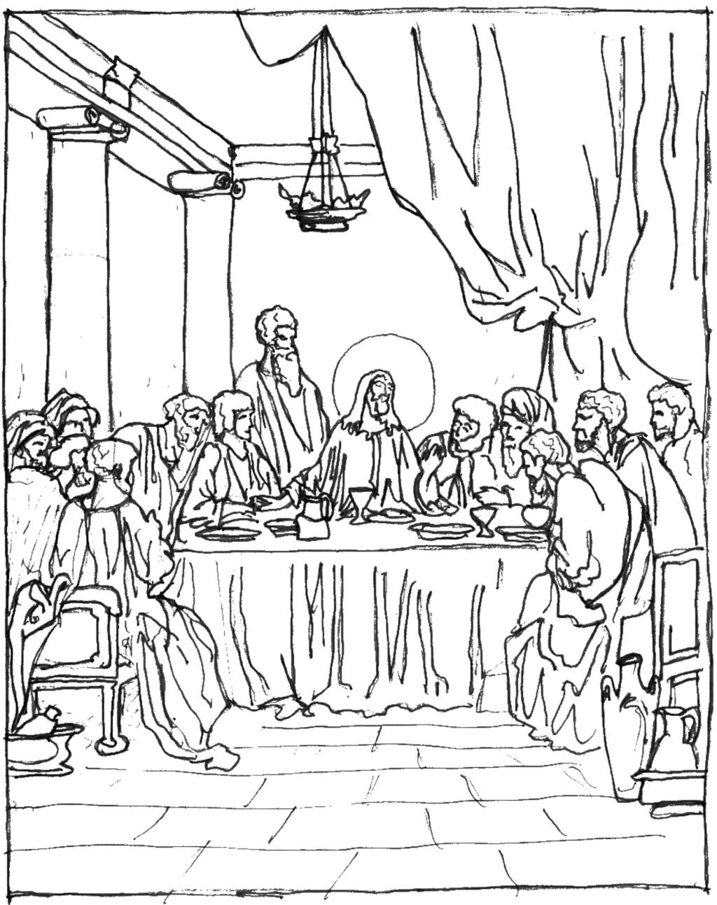 last supper coloring page the history of the last supper coloring page kids play color supper last coloring page