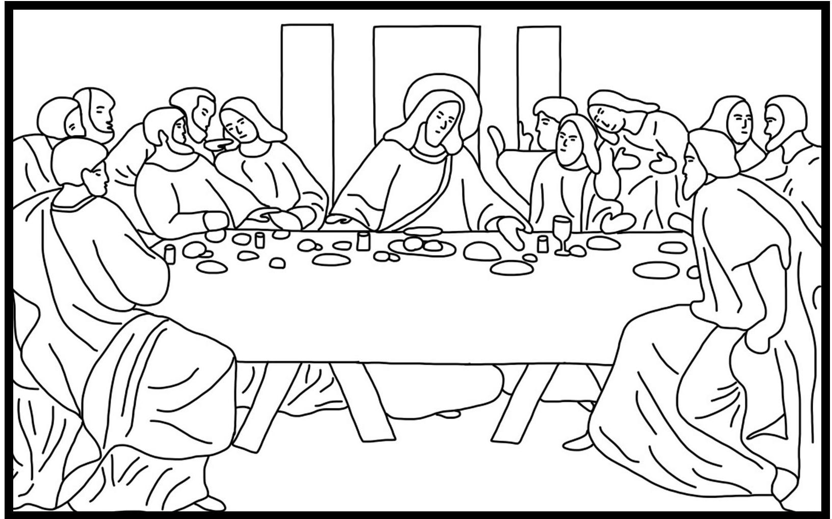 last supper coloring page the last supper coloring page coloring home page coloring supper last