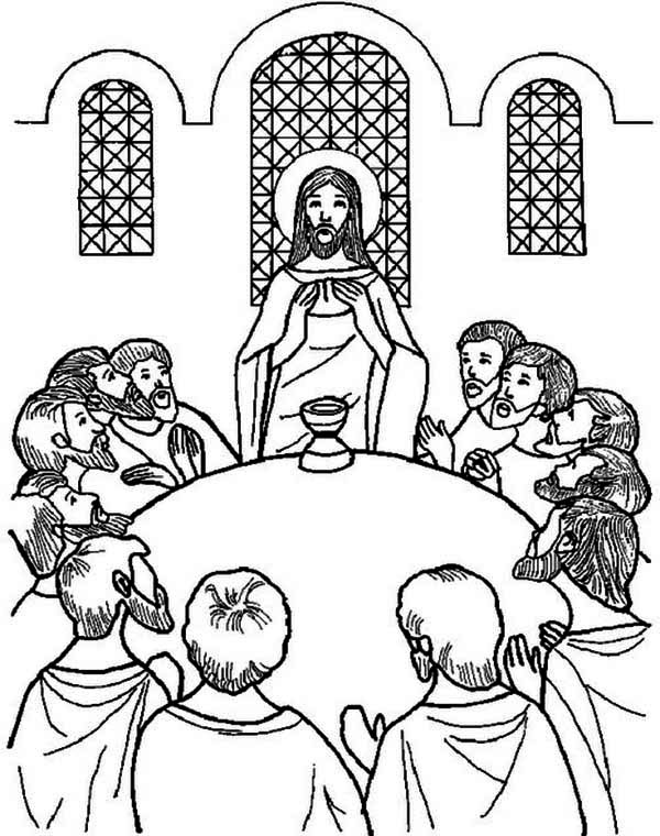last supper coloring page the last supper coloring page kids play color em 2020 supper last coloring page
