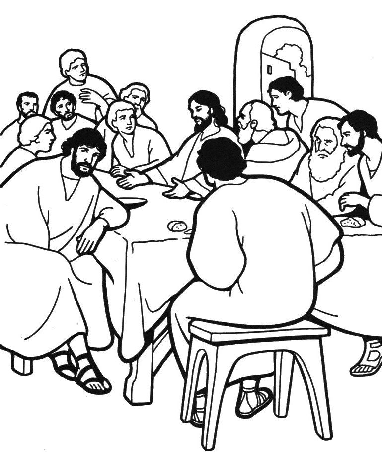 last supper coloring page the last supper the last passover of jesusbible story last coloring page supper