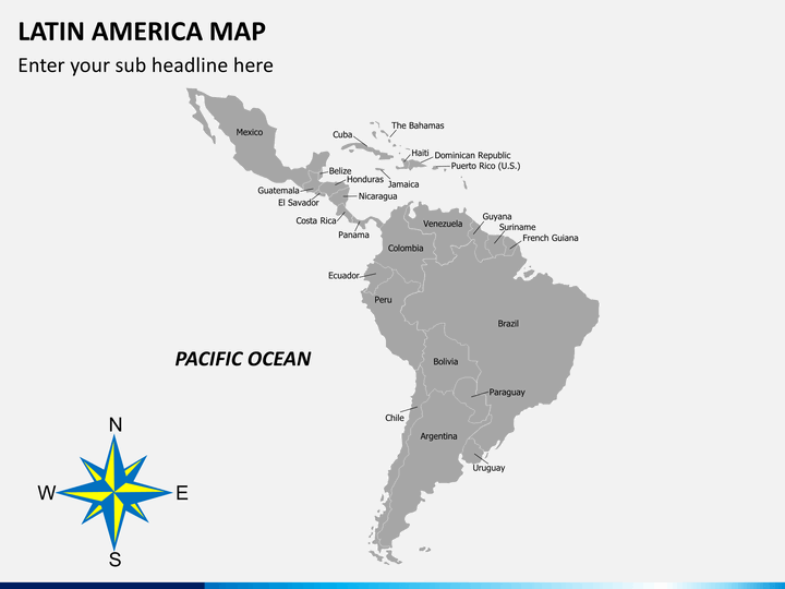latin american flags latin america map powerpoint sketchbubble flags latin american