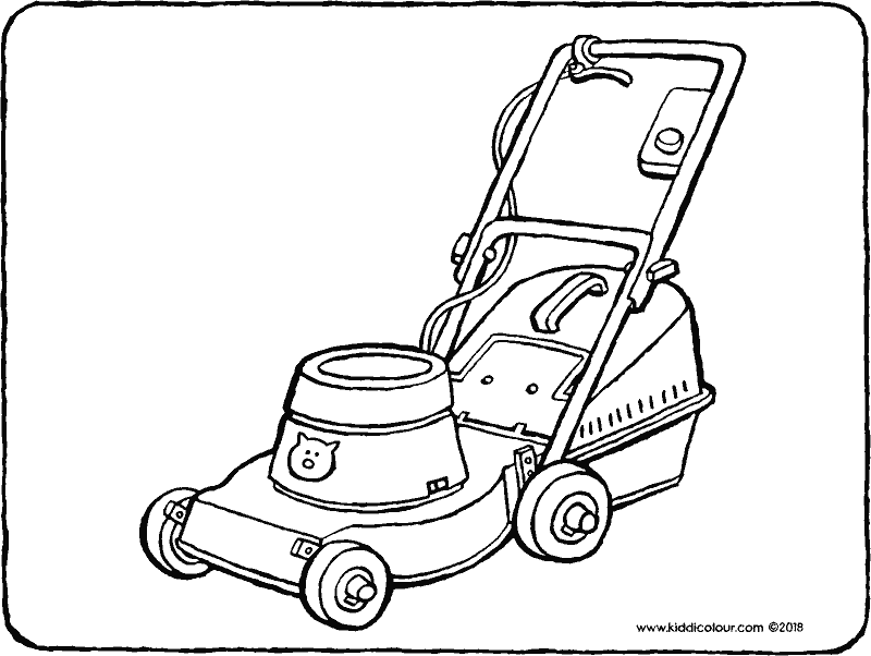 lawn mower coloring page printable picture of a lawnmower summer coloring page of mower coloring page lawn