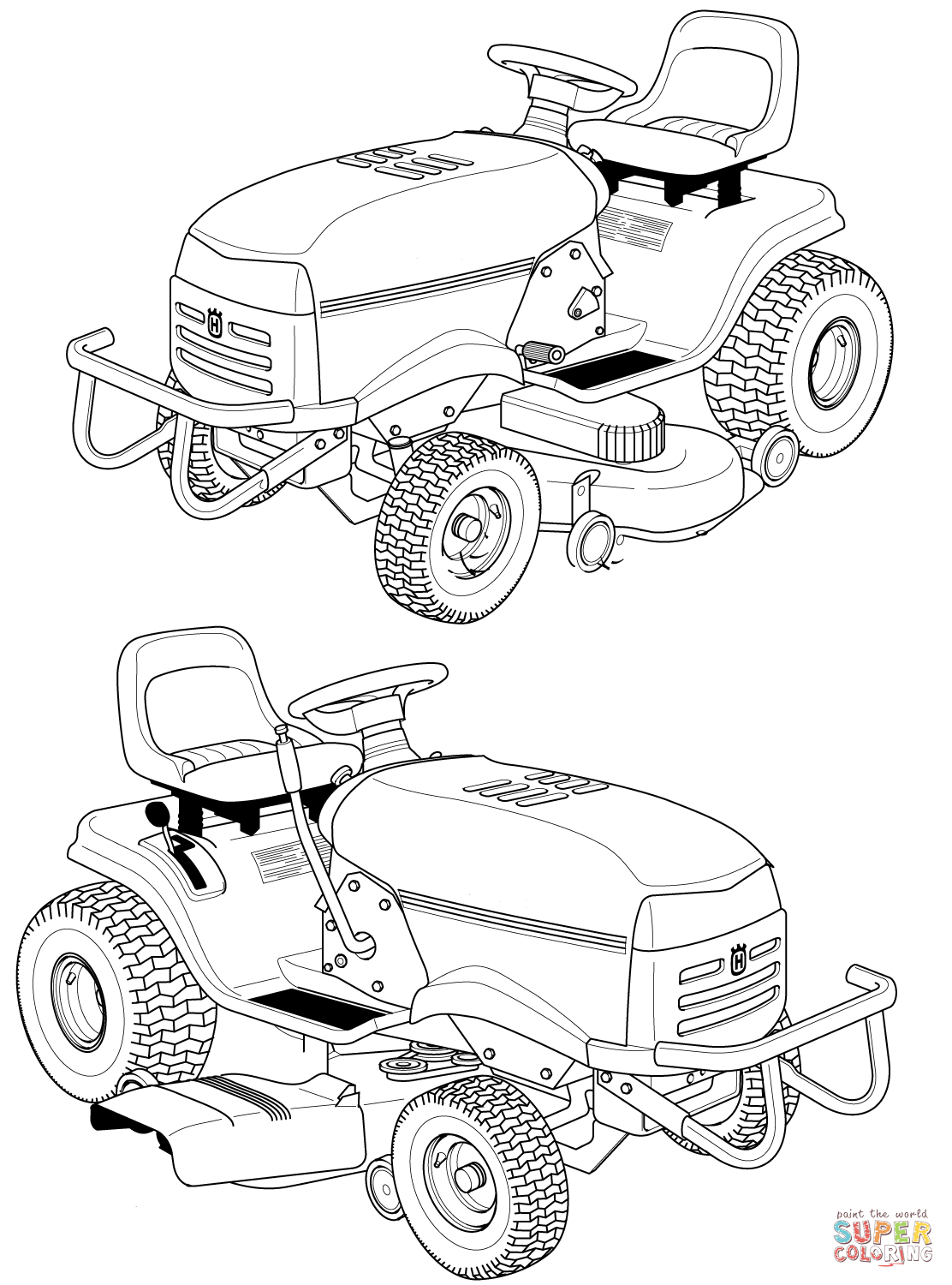 lawn mower coloring page riding lawn mower drawing at getdrawings free download lawn page mower coloring