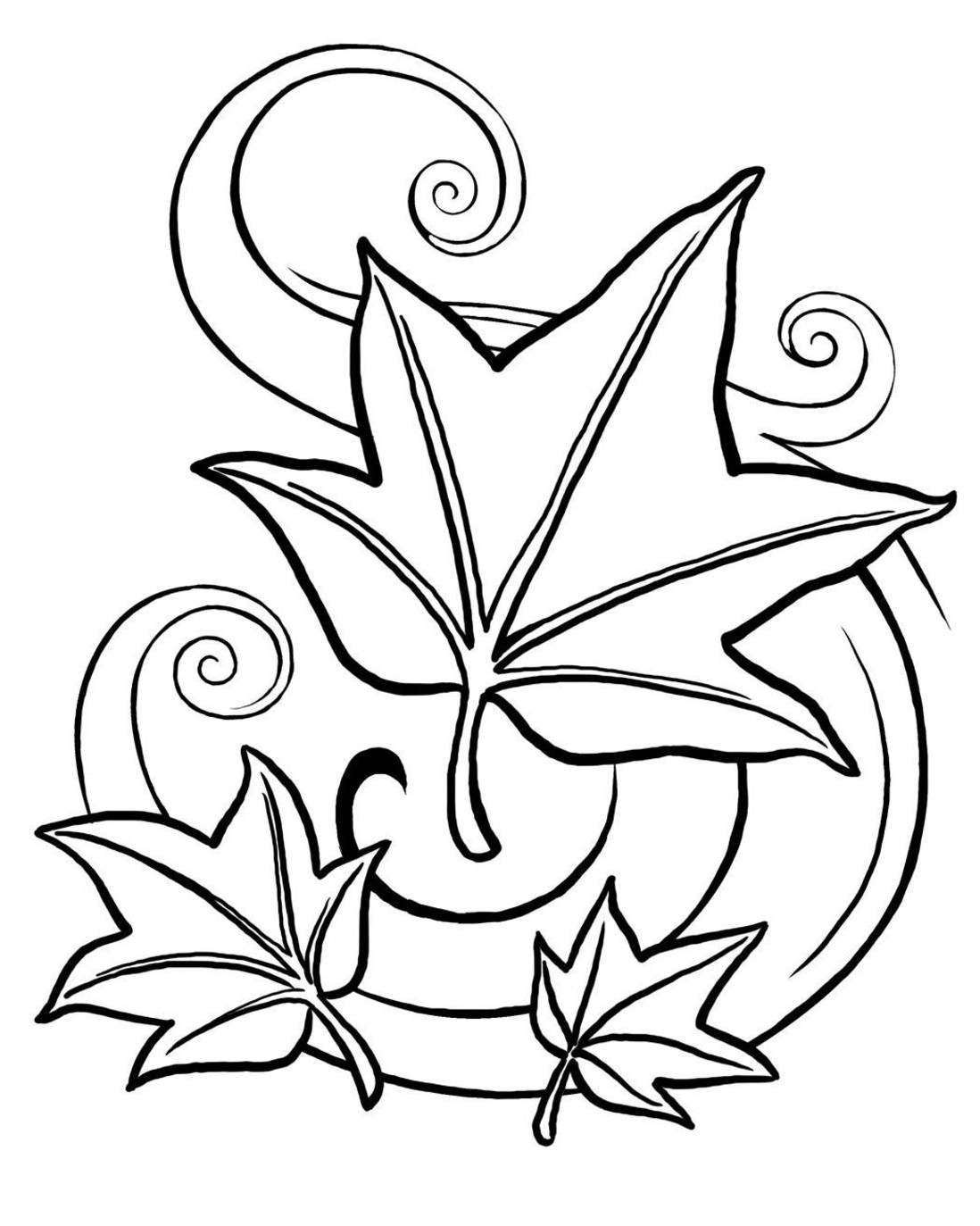 leaves coloring images clipart panda free clipart images coloring images leaves