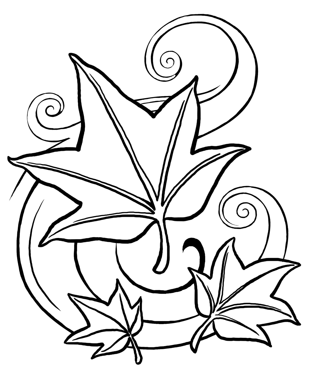leaves to colour in 6 best images of leaf tracers printable maple leaf colour leaves in to