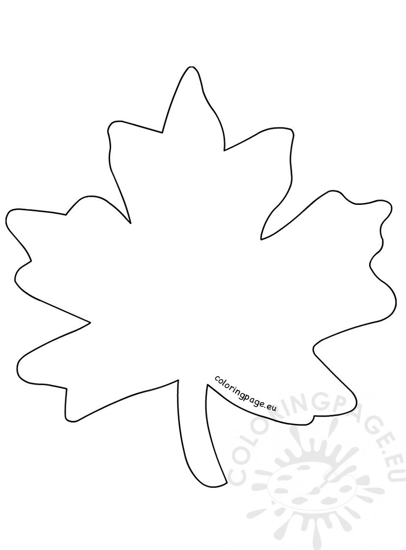 leaves to colour in maple leaf is the autumn leaves coloring page kids play leaves colour in to