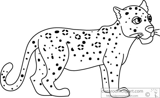 leopard outline animals black and white outline clipart baby leopard outline leopard