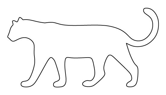 leopard outline leopard pattern use the printable outline for crafts leopard outline 1 1