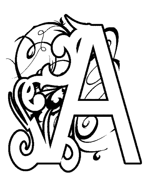 letter a coloring pages free illuminated letters coloring pages at getcoloringscom free pages a coloring letter