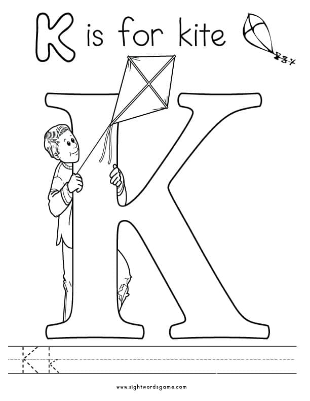 letter k coloring page alphabet coloring pages letter coloring k page