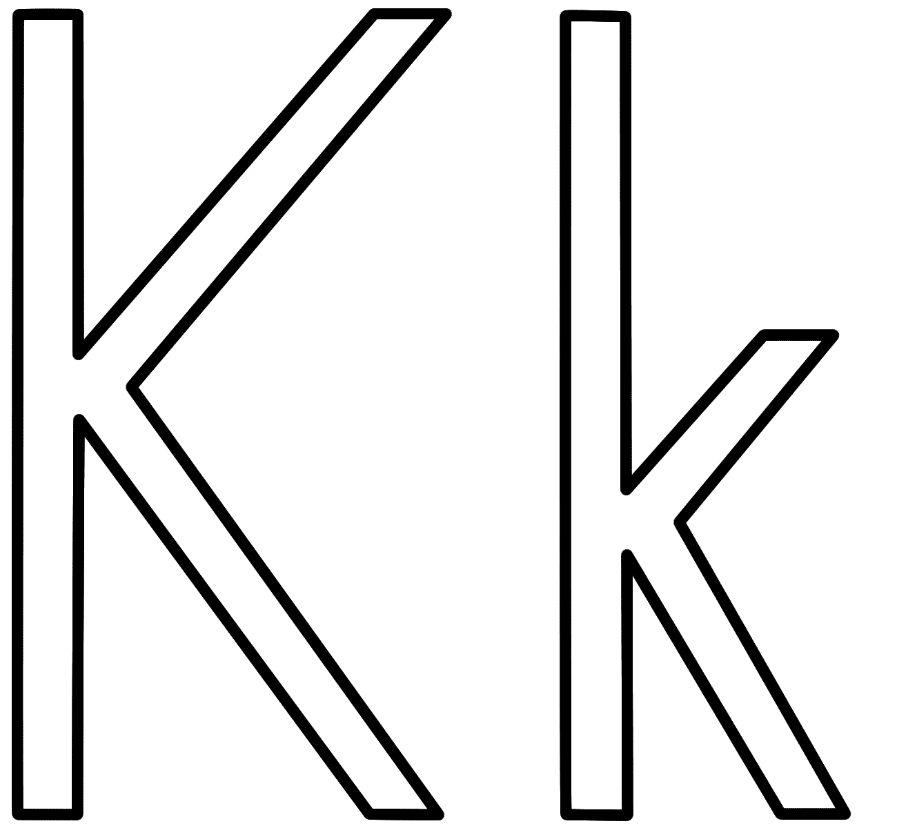 letter k coloring page letter k drawing at getdrawings free download coloring k letter page