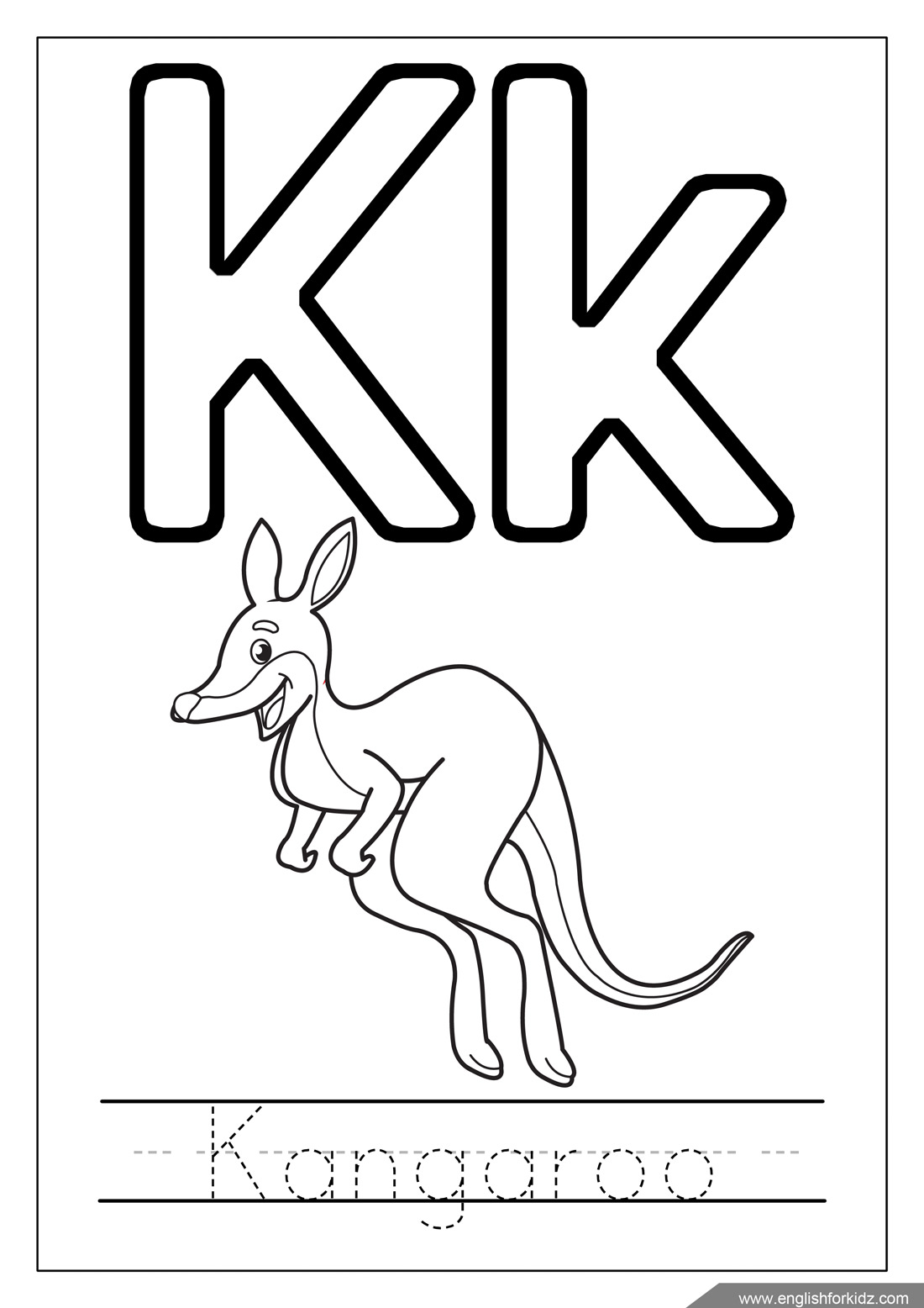 letter k coloring page letter k drawing at getdrawings free download coloring letter k page