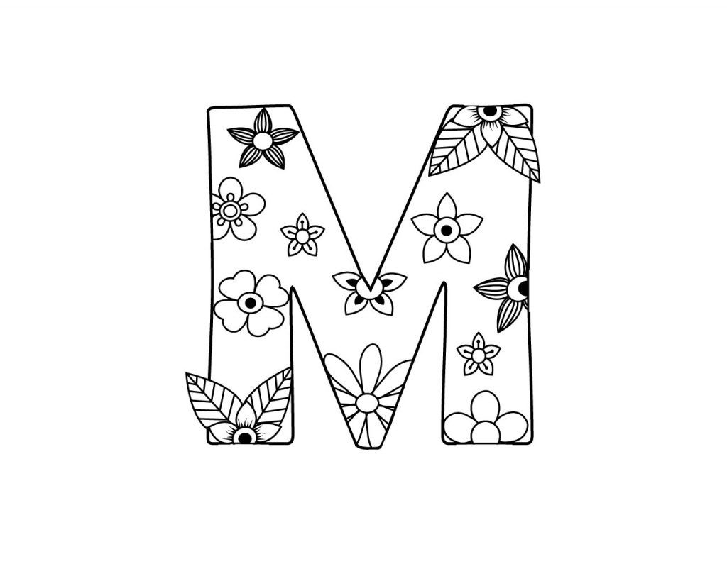 letter m coloring pages for adults 8 best images of printable letters coloring pages adults for coloring m letter adults pages