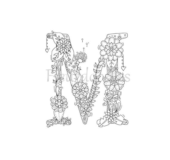 letter m coloring pages for adults adult colouring page alphabet letter quotmquot lettering adults letter m coloring for pages