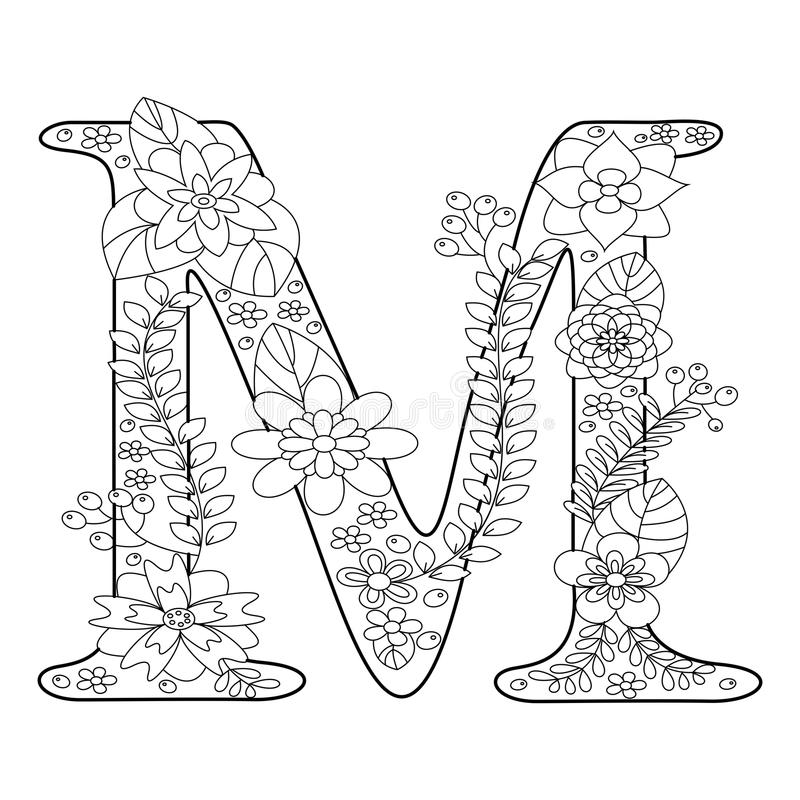 letter m coloring pages for adults adult colouring page alphabet letter quotmquot lettres for m letter adults coloring pages