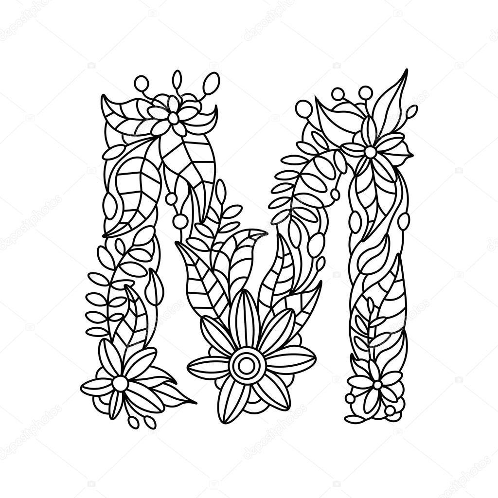letter m coloring pages for adults floral alphabet letter m coloring pages getcoloringpagesorg adults pages for coloring m letter