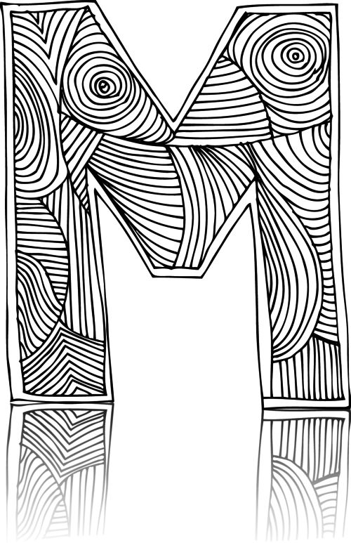 letter m coloring pages for adults free printable letter m coloring page letter m coloring m letter pages coloring for adults
