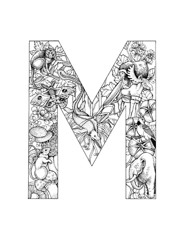 letter m coloring pages for adults instant digital download adult coloring page letter m etsy m coloring adults letter pages for