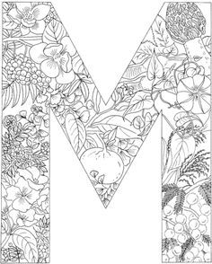 letter m coloring pages for adults letter m coloring book for adults vector stock vector adults m pages for letter coloring