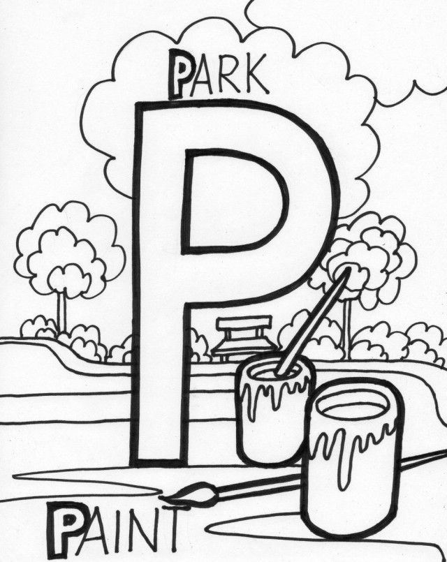 letter p coloring pictures letter p coloring pages coloring home p letter pictures coloring