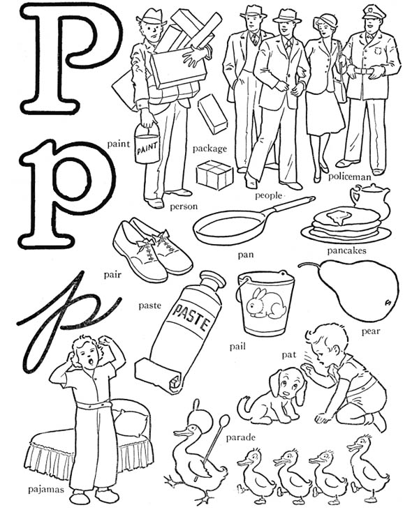 letter p coloring pictures trace and color the letter p coloring page twisty noodle coloring p pictures letter