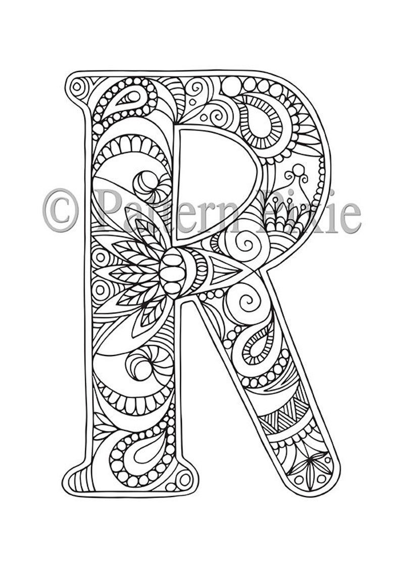 letter r coloring pages for adults letter r coloring book vector images 61 coloring for pages letter adults r